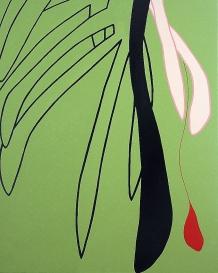 """Plant VI"" 80 x 100 cm acryl en glanslak op doek 2014"
