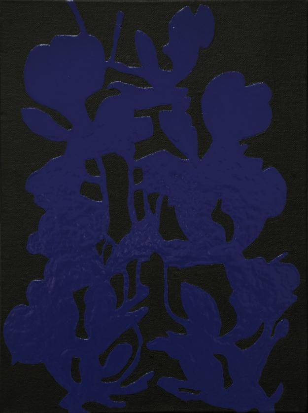 """""""Blue plant"""" acryl and oil on canvas 30x40cm 2013"""