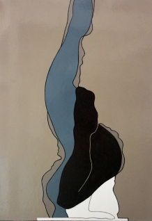 """""""Ballet"""" glanslak op doek 70x100cm 2015"""