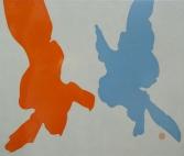 """""""Birds"""" glanslak op doek 100 x 100cm 2007/2017"""