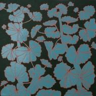 """""""Geranium IV"""", acryl en glanslak op doek, 40 x 40cm, 2019"""